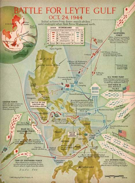 This Vintage Map Shows the 'Greatest Battle in the History of Naval Warfare' | Interesting Philippine History, News and Trivias | Scoop.it