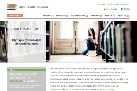 OpenStax College - free open-source books for college | Social media and education | Scoop.it