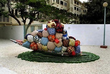 """""""Road to exile"""" by Barthélémy Toguo 