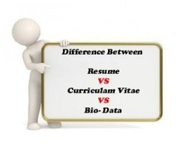 Difference between a Resume, CV and Bio-Data | MoreVisas | MoreVisas Immigration and Visa Services | Scoop.it