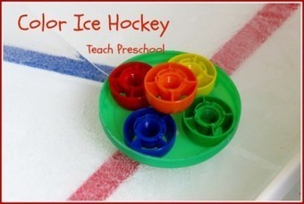 Let's play color ice hockey   Happy Days Learning Center - Resources & Ideas for Pre-School Lesson Planning   Scoop.it