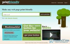 Print Friendly : un outil gratuit pour optimiser l'impression des pages web et les sauvegarder en PDF | Webmarketing et Réseaux sociaux | Scoop.it