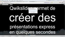 Qwickslides: vos présentations express avec vidéos et images – Le coutelas de Ticeman | le foyer de Ticeman | Scoop.it