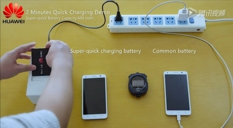 Huawei dévoile de nouvelles batteries qui se chargent en quelques minutes | Marketing digital : L'entonnoir du web | Scoop.it