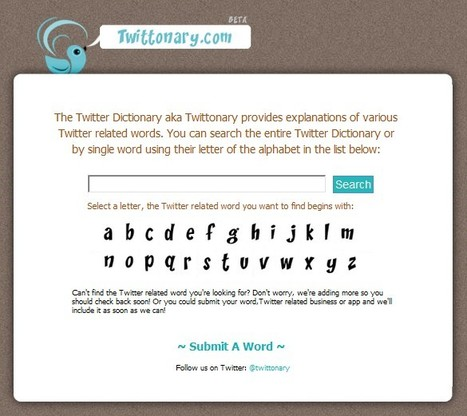 Twittonary | A Twitter Dictionary | HASTAC | Scoop.it