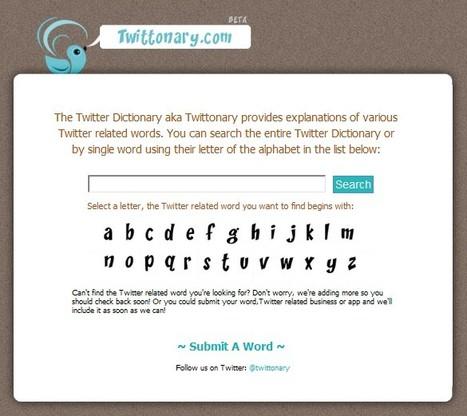 Twittonary | A Twitter Dictionary | SocialMediaDesign | Scoop.it