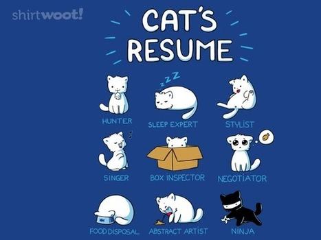 Cat's Resume T-Shirt | Cat Stuff | Scoop.it