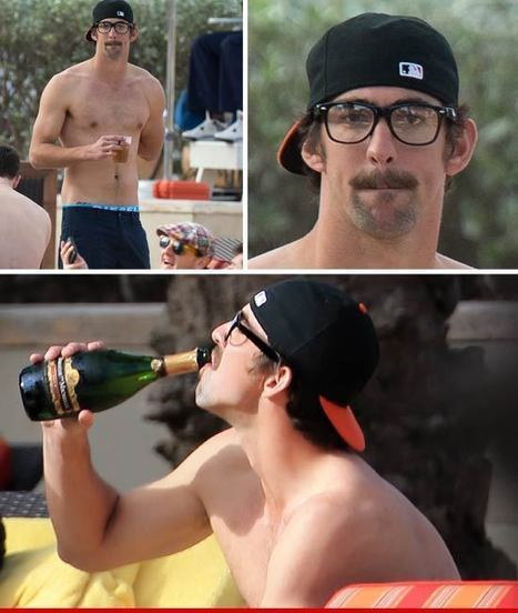 Michael Phelps -- Poppin' Bottles ... Like a '70s Porn Star   AbuHill   Scoop.it