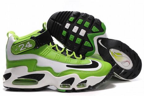 Nike Air Max Griffey 1 (Mens) Basketball Shoes - White/Green | fashion list | Scoop.it