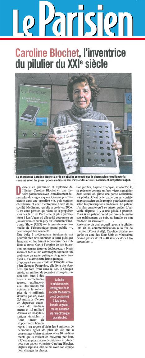 Dans le Parisien, Caroline Blochet, l'inventrice du pilulier imedipac by medissimo qui va révolutionner la prise de médicaments.   Les nouvelles technologies de la e-santé   Scoop.it