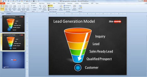 Free Lead Generation Model Template for PowerPoint - Free PowerPoint Templates - SlideHunter.com | Lead Gneration | Scoop.it