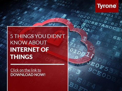 5 Things You Didn't Know About ‪#‎InternetofThings‬ (‪#‎IOT‬) Download our ‪#‎PPT‬ for free. Click on this link to download now: http://goo.gl/X3FUKi | tyrone | Scoop.it