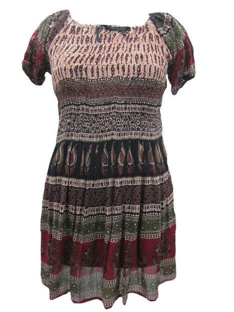 Boho Peasant Mini Dress Floral Print Vintage Dresses | Bohemian Fashion | Scoop.it