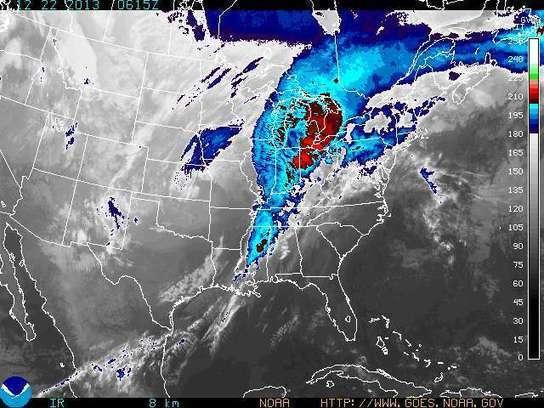 NOAA GOES East DATA - EASTERN US IR