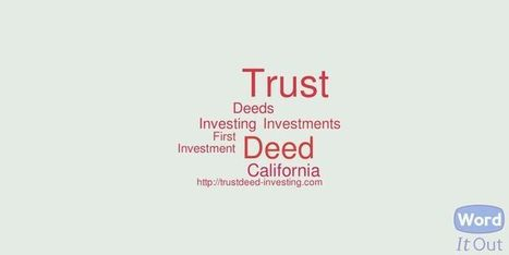 Trust Deeds | Finance | Scoop.it