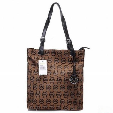 Michael Kors Handbags Jet Set Monogram Item Tote Brown Ladies | popular collection | Scoop.it
