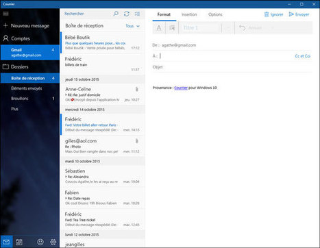 Windows 10 : installer Gmail dans Courrier, la messagerie native   kamusa   Scoop.it