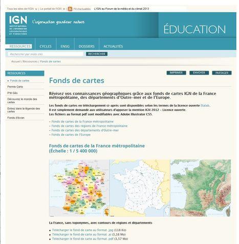 Infographie : Nouveaux fonds de cartes France et Europe | Portail de veille en Géomatique de l'ADEUPa | Scoop.it