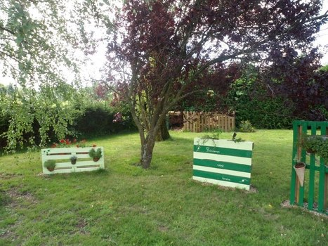 Pallet as decoration in the garden - 1001 Pallets | Decoration | Scoop.it