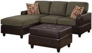 Bobkona Manhattan Reversible Microfiber 3-Piece Sectional Sofa | Home Office Furniture | Scoop.it