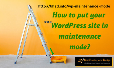 How do you put your WordPress site in maintenance mode? | Problogging Tips | Scoop.it