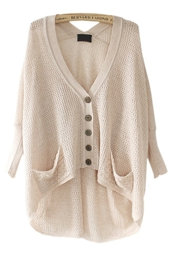 Solid Color High-Low Cardigan - OASAP.com | Sweaters and Cardigans | Scoop.it