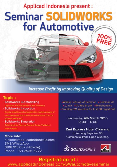 Seminar SolidWorks for Automotive| AppliCAD Indonesia. | AppliCAD Indonesia | Scoop.it