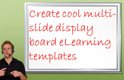 Present course information in a cool way with display board eLearning templates | Designing Minds | Scoop.it