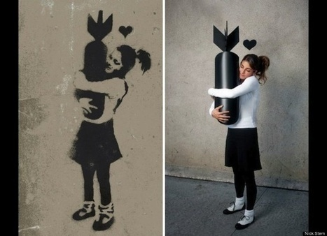 street art - Nick Stern's 'You Are Not Banksy' Continues, With More Real-Life Versions Of Banksy Graffiti (PHOTOS)   VIM   Scoop.it