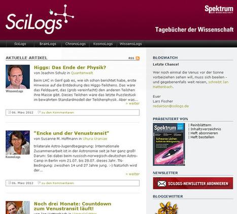 Wissenschaftliche Weblogs - Die Plattformen SciLogs und Scienceblogs | Culture to go Blog | Physics | Scoop.it