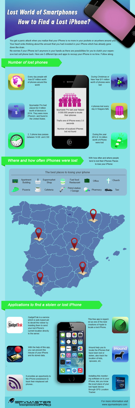 How To Find Lost iPhone | Spymaster Pro Official Blog | Cell Phone Spy | Scoop.it