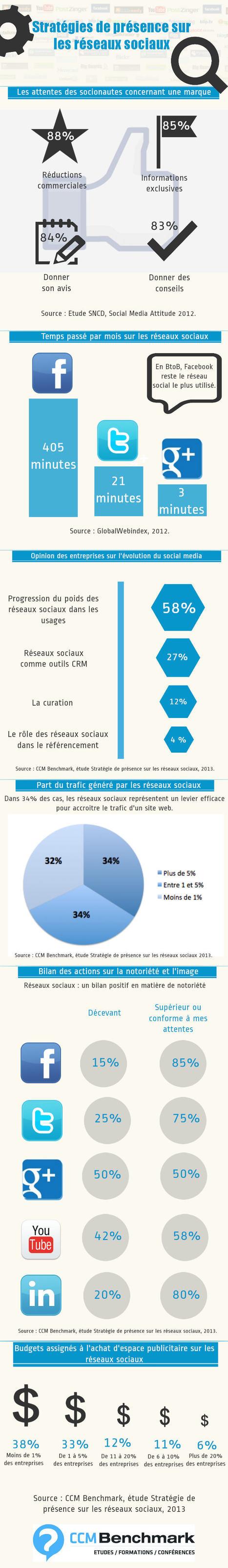 [Infographie] Stratégies de présence sur les réseaux sociaux | Mon Web Bazar | Scoop.it