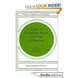 Amazon.com: Topics in Constraint-Based Grammar of Japanese eBook: T. Gunji, K. Hasida: Kindle Store | Adjectives | Scoop.it