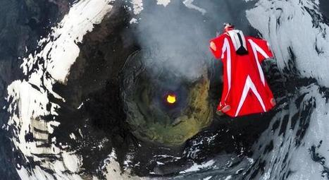 Few Things Are More Hardcore Than Flying Over An Active Volcano In A Wingsuit | MOVIES VIDEOS & PICS | Scoop.it
