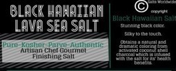 What is Black Lava Hawaiian Sea Salt? | Salts Worldwide | Scoop.it
