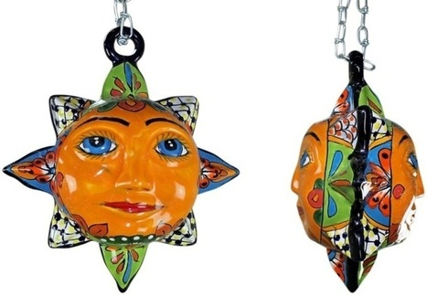 Small Hanging Talavera Sun | Mexican Furniture & Decor | Scoop.it