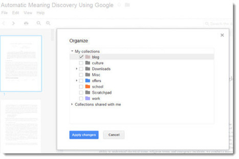 Google Docs nos permite organizar los archivos de forma más simple | youtube google.docs | Scoop.it