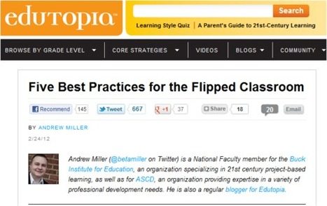 Five Best Practices for the Flipped Classroom | TEFL & Ed Tech | Scoop.it