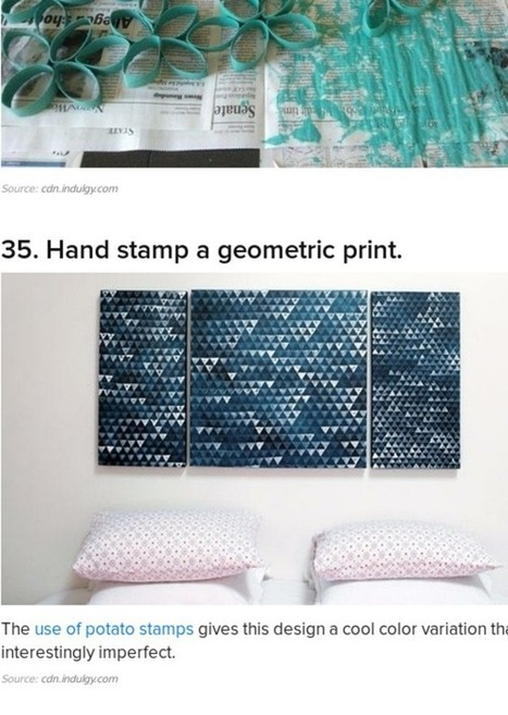 39 Easy DIY Ways To Create Art For Your Walls | Crafts to Try | Scoop.it