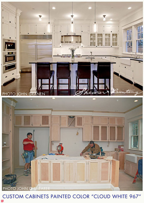 Painted Kitchen Cabinets BM Cloud White 967 | Homes and Condos | Scoop.it