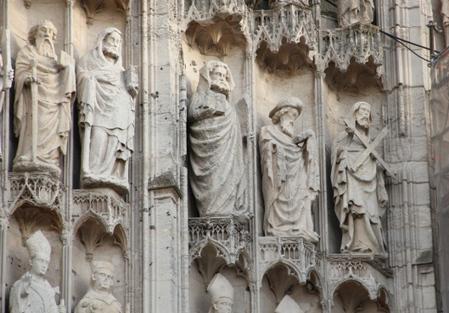 Les statues de la façade de la cathédrale de Rouen | Enseigner l'Histoire-Géographie | Scoop.it