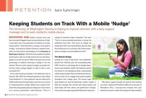 Keeping students on track with a mobile nudge | Mobile Learning in Higher Education | Scoop.it