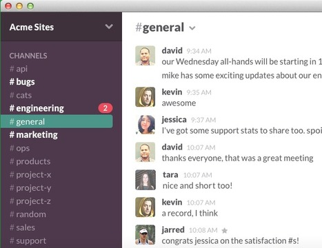 Cross-Device Real-Time Messaging, Archiving and Search for Team Collaboration: Slack | email | Scoop.it