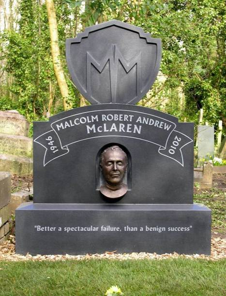 UK News: Sex Pistols manager Malcolm McLaren gets grave stone and a death mask in Highgate Cemetery | Asbestos and Mesothelioma World News | Scoop.it