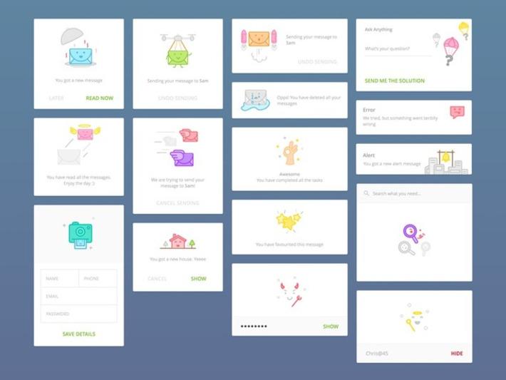 Cute Message Cards Sketch freebie - Download free resource for Sketch 3- Sketch App Sources | ❤ Social Media Art ❤ | Scoop.it