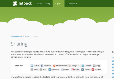 Customizing Jetpack's Sharing module | WordPress | Scoop.it
