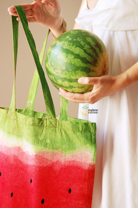 Tuto de sac pastèque | Madame Citron - Création de cake-topper et faire-part de mariage | Market Day Ideas | Scoop.it