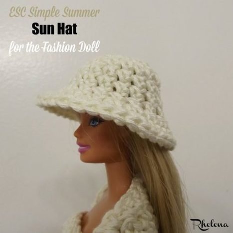 ESC Simple Summer Sun Hat for the Fashion Doll - CrochetN'Crafts | Free Crochet Patterns | Scoop.it