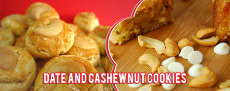 Date and Cashewnut Cookies | food delivery | Food121 | Food | Scoop.it