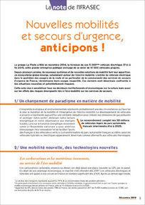 Note sur les nouvelles mobilités et le secours d'urgence | SAPEURS-POMPIERS DE LA MARNE | Scoop.it